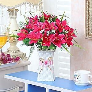 Xin Pang Simulación De Flor Artificial Flor Salón Comedor Decoraciones Hogareñas Pequeñas Macetas Adornos De Cerámica De…