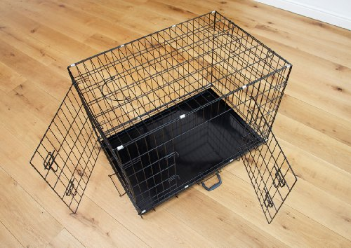 Easipet Dog Puppy XXLarge Black Metal Training Cage Crate 48 3