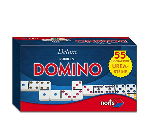 Preisvergleich Produktbild Noris Spiele 606108003 - Deluxe Doppel 9 Domino
