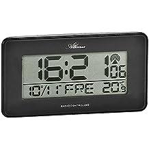Atlanta 1877/4Radio despertador digital, repetición, especial fondo, indicador de hora, fecha, día de la semana y temperatura, 2alarmas, tecnología de Touch, color negro