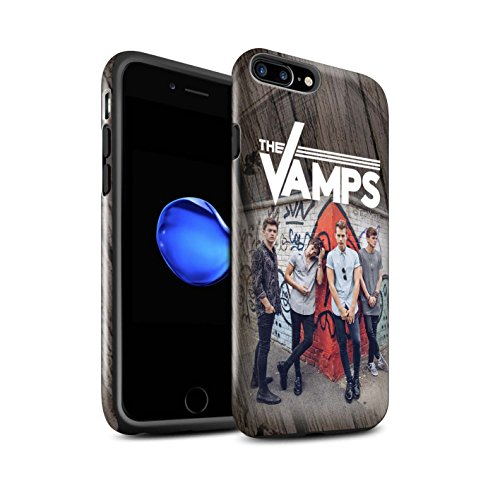 Offiziell The Vamps Hülle / Glanz Harten Stoßfest Case für Apple iPhone 7 Plus / Holz-Effekt Muster / The Vamps Fotoshoot Kollektion Holz-Effekt