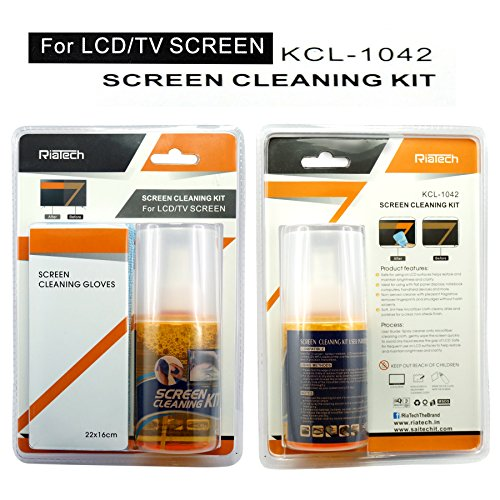 RiaTech® Superior Quality 3 in 1 Screen Cleaner Kit - Best for LED & LCD TV, Computer Monitor, Laptop, and Screens