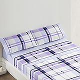 Burrito Blanco - Juego de sábanas Claro de Luna 680 para cama 105x190/200 cm, color azul