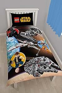 LEGO Star Wars espace simple housse de couette et taie d'oreiller Set