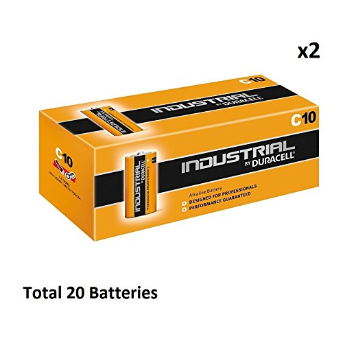 Duracell 20 X Industrial C Alkaline Batteries Size Mn1400 Lr14 Replaces Procell