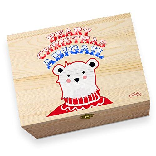 personalisierbar Polar Bär Weihnachten Jumper Kinder bedruckt Christmas Eve Box