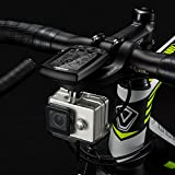 WALIO iGPSPORT S81 - Adaptador para Montaje de Cámara o Foco Frontal en el Soporte Frontal. Aleación de alumnio y plástico Resistente adaptación en la Bicicleta