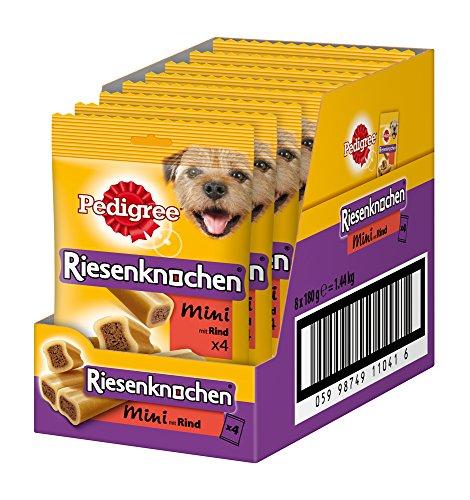 PEDIGREE Jumbone Small Dog Treat with Beef, 4 Treats (Pack of 8) Test