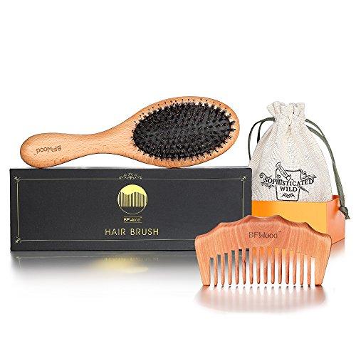 BFWood Brosse Cheveux Soie de Sa...