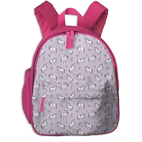 Kinderrucksack mädchen,Einhorn Lavendel Mini winzige Version lila Einhorn Mädchen süßes Einhorn Fabric_2753 - Andrea_Lauren, für Kinderschulen Oxford Tuch (pink)