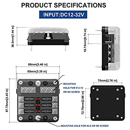 BlueFire-8-Fach-30A-32V-Sicherungshalter-mit-16PCS-Sicherung-LED-Warnleuchten-fr-AutoMarine-BooteTrike
