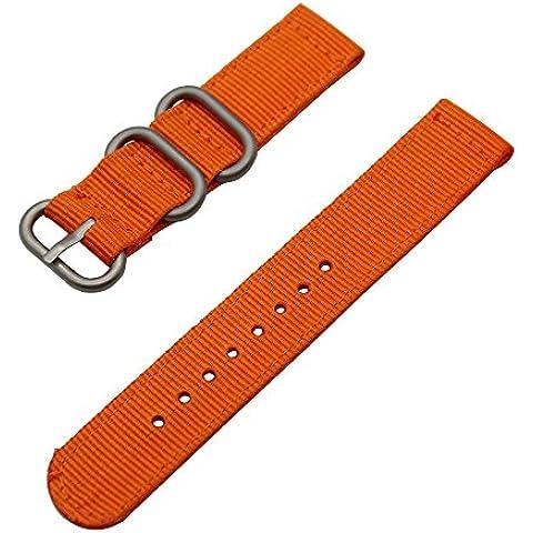 TRUMiRR 18 millimetri balistico nylon Watch Band Strap Zulu 2 Pezzi per Huawei Watch, Asus ZenWatch 2 WI502Q 45mm, Withings Activite / Acciaio / Pop