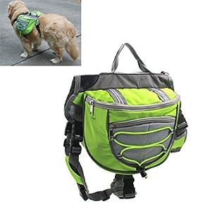 Xiaoyu sac à dos pour chien, sac à dos, harnais de transport réglable, pour le camping de randonnée en voyage