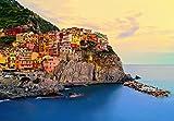 Fototapete - Cinque Terre Coast - Format: 366x254 cm – 8-teilig