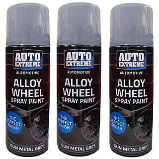 Gun Metal Grey Spray Paint Grey Alloy Wheel Spray Restorer Car Van Auto Paint 200ml Scotvision®