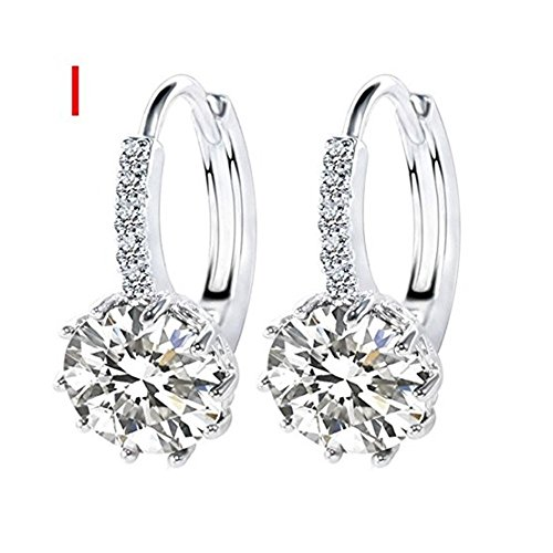 DAY.LIN Damen Ohrringe Schmuck Ohrstecker stecker Einfache Mode Diamant Ohrstecker Ohrringe Frauen Schmuck (I)