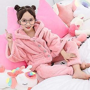 Chándal para Niñas Invierno Niños S Pijama Conjunto De Dos Piezas Big Boy Thick Double-Sided Long Velvet Set 4