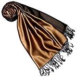 Lorenzo Cana Luxus Damen Pashmina Wendeschal 70% Seide 30% Viskose Schaltuch 70 cm x 190 cm zweifarbig Schal Stola wendbarer Frauenschal Doubleface