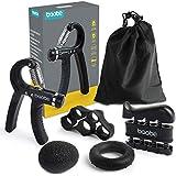 Baobë Hand Grip Strengthener Workout Kit,5 Pack Adjustable Hand Gripper,Finger Stretcher,Finger Exerciser,Exercise Ring & Str