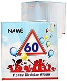 alles-meine.de GmbH Geburtstag -  60 Jahre - Happy Birthday  - incl. Name - Erinnerungsalbum / Fotoalbum - Gebunden zum Einkleben & Eintragen - Album & Erinnerungsbuch - Fotobu..