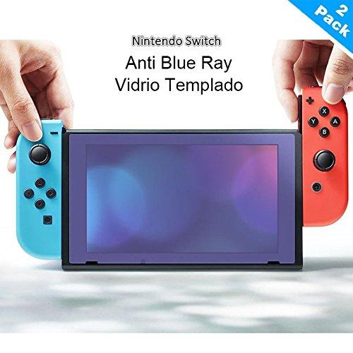 Yincol [B] [Blue Light Filter]Nintendo Switch Protector de Pantalla,Vidrio Templado Tempered Glass...