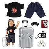Lelestar 7 Pezzi Accessori per Vacanza 40 - 46 CM American Girl Doll Bambola Amore Mio E Altre Bambole