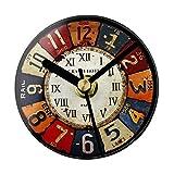 Magnetisch Klebrig Wanduhr Kühlschrank Uhr European Retro Nostalgic Farbenreich Pastoralen Stil Kontinental Kühlschrankmagnet Kreativ Kühlschrankuhr Mitteilungsstab Wanddekoration Uhr