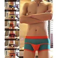 GS~LY confortevoli ed esclusive lingerie antibatterico a vita bassa intimo uomo maglie monostrato mosaico boyshort trasparente , viola , l  Acquista 2 ottenere 1 gratis