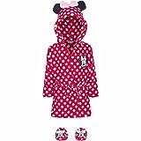GUIZMAX Peignoir et Chausson Minnie Mouse 9/12 Mois Peignoir bébé Rouge