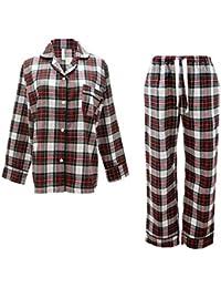 Mmllse Ensembles De Pyjama en Vrac Pyjamas Style Écossais S Habiller Dormir  Vêtements De Nuit 73c97bc09bd
