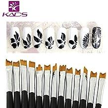 KADS13 x Profesional pinceles de uñas arte clavo uña diseño cepillo pincel lápiz herramienta kit