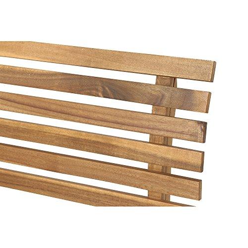 Siena Garden 2er Bank Santana, 67,5x140x92,5cm, Akazienholz, geölt in natur, FSC 100% - 6