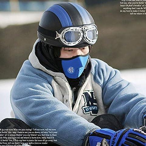 Máscara de Deporte Contra Frío /Viento / Polvo / Calor-Proof con Filtro de Aire de Contaminantes para Bici Bicicleta Moto Esquí Viajes (Style2)