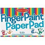 """Melissa & Doug Finger Paint Paper Pad, Multi Color (12""""x18"""")"""