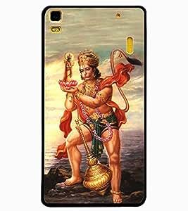 ColourCraft Lord Hanuman Design Back Case Cover for LENOVO A7000 PLUS