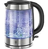 Russell Hobbs 21600 Illuminating Glass Kettle, 1.7 L - Blue Illumination