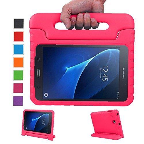 LEADSTAR Samsung Galaxy Tab A 7.0 Kinder Hülle Eva Case mit umwandelbarer Handgriff Superleichte Stoßfeste Schutzhülle Tasche Cover für Samsung Galaxy Tab A 7 Zoll SM-T280 / T285 (Rosa)