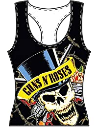 Guns N Roses - Skull And Bones Damen Girlie Shirt Gr. L