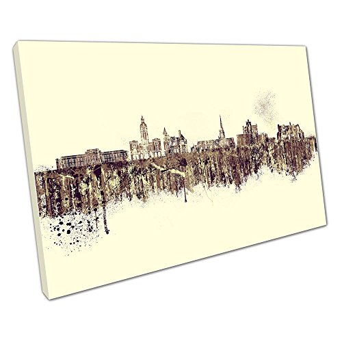 SPRAY Kunstdruck auf Leinwand Skyline Chesterfield Town in England, 76 x 51 x Depth 2cm