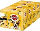 Pedigree Vital Protection / Hochwertiges Hundefutter Huhn, Rind und Truthahn / 48 Beutel (4 x 12 x 100 g)