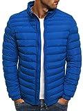 OZONEE Herren Hoodie Funktionsjacke Casual Zip Sportswear Modern Winterjacke Steppjacke Sweatjacke Wärmejacke Jacke Parka Gesteppt J.Boyz X1008K BLAU XL