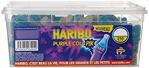 Haribo Bonbon Gélifié Purple Cola Pik x 210 Pièces 1,37 kg