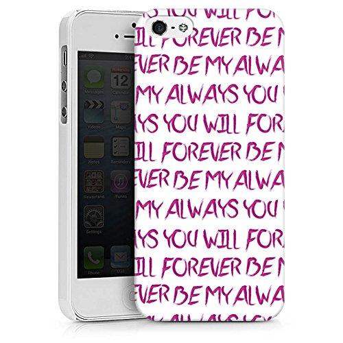 Apple iPhone X Silikon Hülle Case Schutzhülle Spruch Liebe Herz Forever Hard Case weiß