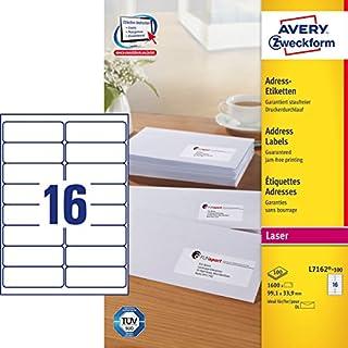 Avery L7162-100 - QuickPEEL Address Label 99x34mm L7162-100 (1600Labels)