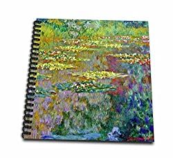 3dRose db_155656_2 Water Lilies by Impressionist Artist Claude Monet-Water Lilies on Lake Famous Nature Impressionism-Memory Book, 12 by 12-Inch