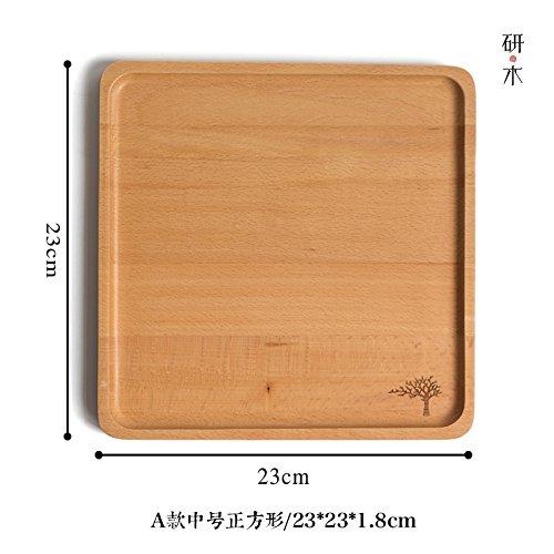 Bezigeorey Holzpalette, Kuchen, Obst, Brot und Kuchen Fach, 23 * 23 cm Kleiner Baum Spleißen (Spleißen Fach)