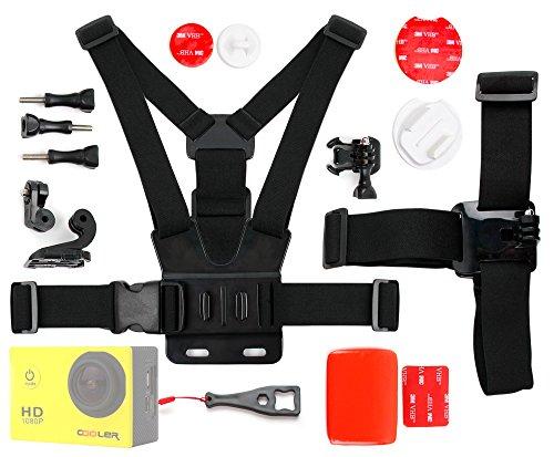 DURAGADGET-Kit-de-accesorios-para-Cmara-deportiva-Activeon-CCA10W-CX-Gold-Plus-SOLARXG-Andoer-4K-360-Degree-Wifi