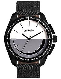 Armbandsur Analog Black & White dial elegant Watch-ABS0031MBB