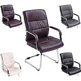 CLP Silla de conferencia / Silla visita SIEVERT, silla con reposabrazos, acolchada, altura del asiento 46 cm, color a elegir marrón