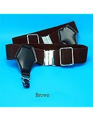 Agarre la liga de las ligas del calcetín del Pin de 1 par de los hombres atractivos accesorios de Brown